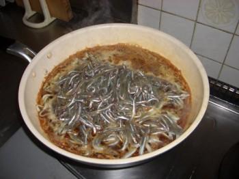 いかなごのくぎ煮の作り方-3
