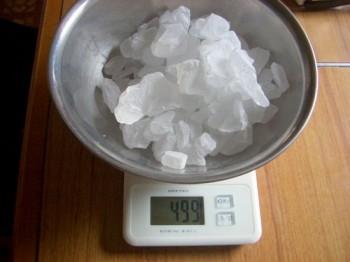 氷砂糖の計量