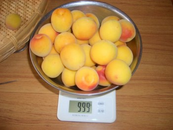 梅を1kg単位に小分け