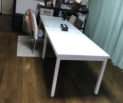 完成したテーブルと既存テーブル