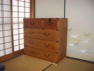 祖父の遺品、欅の箪笥の再生