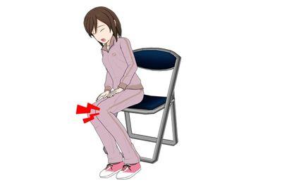 椅子から立ち上がる時に膝が痛む